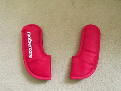 MOTHERCARE MY CHOICE MY3/MY4 Pram/Car Seat Padded Harness Shoulder Pads Red