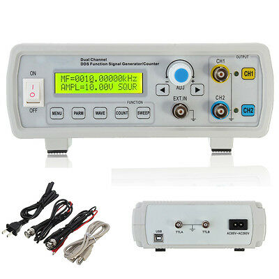 2MHz DDS Funktionsgenerator  Signal Function Generator Dual Kanal square wave