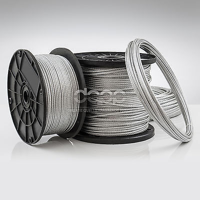 [bulk] 700 ft x 3/16 inch STAINLESS STEEL WIRE ROPE - 7x19 (5mm x ~213m)