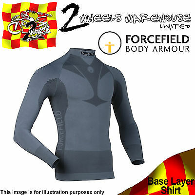 Forcefield Technical Base Layer Long Sleeved Shirt Motor Cycle Bike Cool Tech