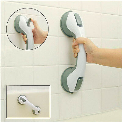 Bath Safety Helping Handle Bathroom Shower Support Grab Bar With 2 Suction Cup