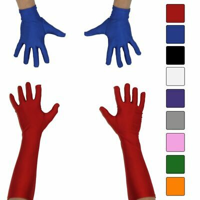 Choose Color Superhero Long Costume Accessory Gloves