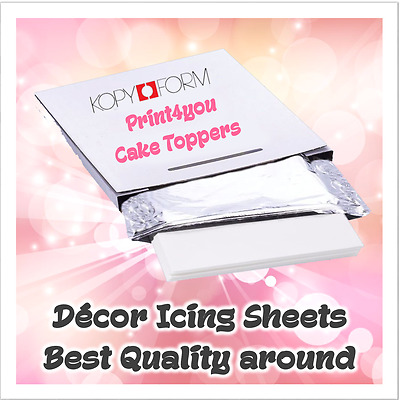 EDIBLE ICING SHEETS FOR PRINTING x 10 A4 DECOR PAPER PLUS