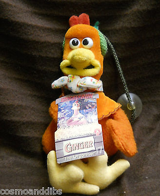 Chicken Run Ginger  Window Sucker Soft Toy With Tags
