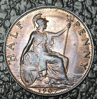 1907 GREAT BRITAIN - HALF PENNY - Edward VII - Nice Coin