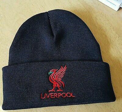 Liverpool Bronx Hat - Black with Red Liverbird  and Liverpool - Great Gift Idea