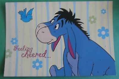 Eeyore Feeling Cheered... By Our Friendship Disney Postcard