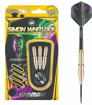 WINMAU SIMON WHITLOCK Steel Tip BRASS Dart Board DARTS Christmas -  22 or 24gram