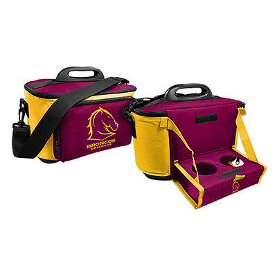 NRL Brisbane Broncos DRINK COOLER ICE BAG WITH DRINK TRAY/TABLE Christmas Gift