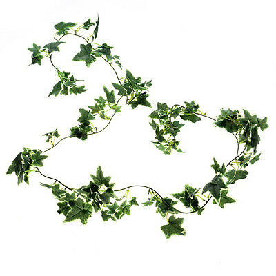 Artificial silk Ivy Garland 6ft Green/Cream variegated small foliage leaf