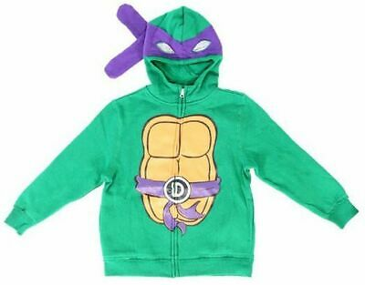 Boys Teenage Mutant Ninja Turtles Donatello Costume Zip Up Hoodie Sweatshirt