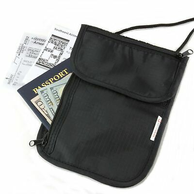 Alpine Swiss Travel Wallet Neck Pouch Undercover Security Stash Bag