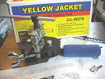 Yellow Jacket 60278 Deluxe Flaring Tool 1/8 tom 3/4 O.D