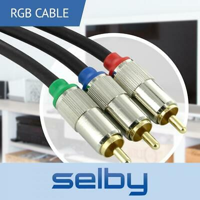 1.5m RGB Component Video AV YUV Cable 3RCA to 3RCA Gold Plated