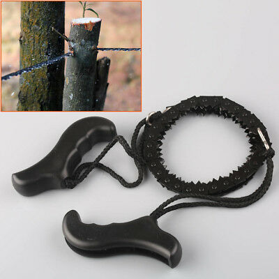 Survival Chain Saw Hand ChainSaw Emergency Camping Kit Tool Pocket EDC Gear