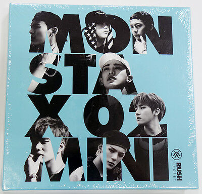 MONSTA X - RUSH [Secret ver] CD+Photo Booklet+Official Photocard+Extra Photocard