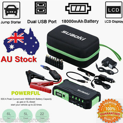 18000mAh Car Jump Starter Booster Power Battery Charger with Air Compressor Pump
