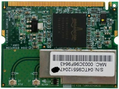 Broadcom 54 MBit WLAN Mini PCI Karte Card 802.11 b/g WiFi für Notebook Laptop