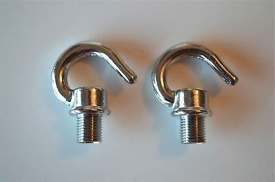 2 Nickel Bulb Holder Lampholder Screw In 10Mm Hook Chain Light Hook Ceiling G2