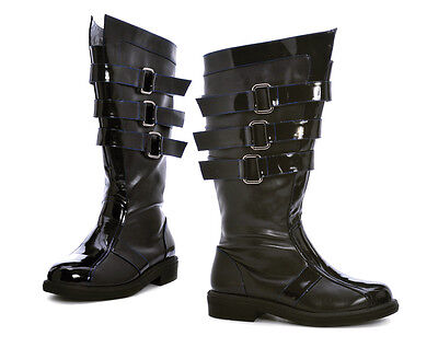 Mens Black Darth Vader Maul Star Wars Space Balls Costume Boots size 8 9 10 11
