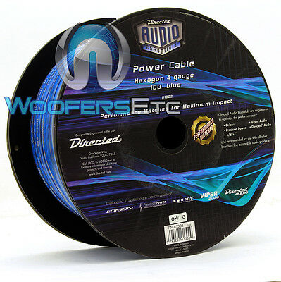 Directed Audio 61302 4-Awg 100 Feet Blue Hexagon Power Cable Orion Viper Ppi