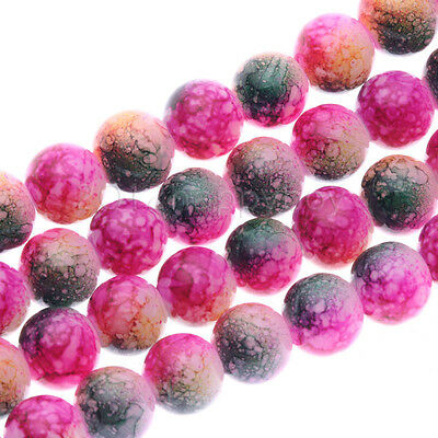 8mm 50X Rose Green Semi Precious Natural Stone Round Beads For Jewellery Making