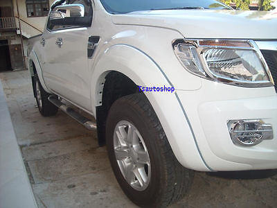 White Fender Flare Wheel Arch 4Door Double Cab For Ford Ranger T6 2012-2014