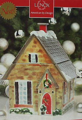 Christmas Lenox Home for the Holiday Cookie Jar 10.25 in NIB