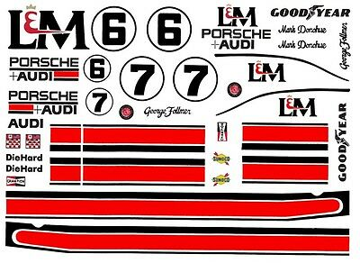 #6 Mark Donohue L&M Porsche 917 1/43rd Scale Slot Car Waterslide Decals
