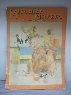 Mischief Makers by Lawson Wood - Colour Illustrated - Cloth Pages