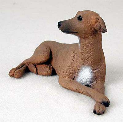 Italian Greyhound Statue Hand Painted Collectible Dog Figurine