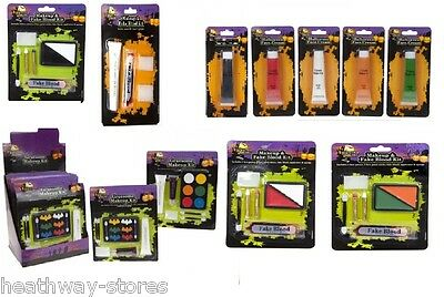 Christmas Face Paint Sets Cream Black White Fake Blood Make Up Fancy Dress Party