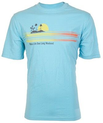 TOMMY BAHAMA Mens T-Shirt MAKE LIFE ONE LONG WEEKEND Relax BLUE Camp XL-3XL $45