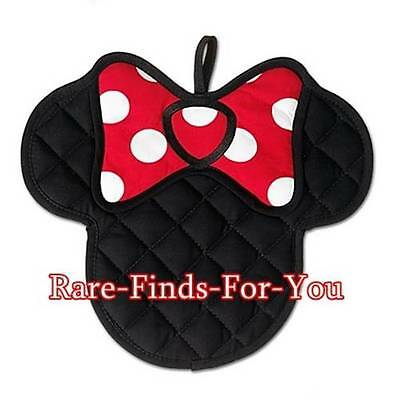 """Disney Parks """"Minnie Mouse"""" Icon Pot Holder Hand Mitt Oven Glove Hot Pad (NEW)"""