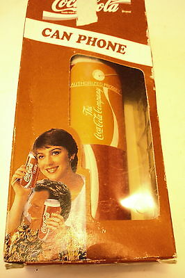 "Coca-Cola  1994 Electronic Can Push Button New Phone, 6"" X 2 3/4"" Round"