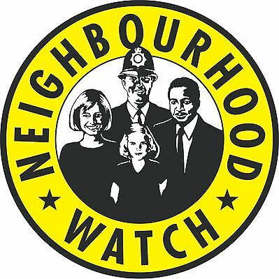 NEIGHBOURHOOD WATCH STICKER Printed Window Sign Security Decal Safety aa148