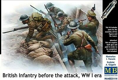 Master Box MB35114 British Infantry before the attack 1. Weltkrieg