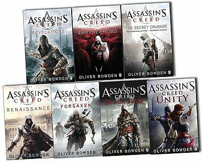 Oliver Bowden Assassins Creed 7 Books Collection Pack Set-Black Flag,Unity,
