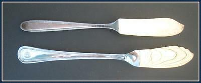 LOT of TWO VINTAGE (ANTIQUE?) SILVER PLATED BUTTER KNIVES.