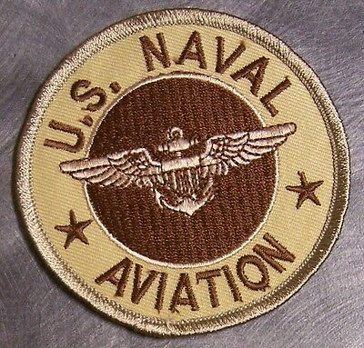 Embroidered Military Patch U S Navy Naval Aviation NEW desert