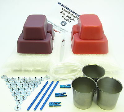 Votive candle making kit ~ Reusable ~ 1.75Kg makes 30 coloured scented candles