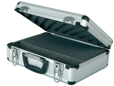 Microphone Storage Case Lockable Metal Flight Box for Mics & Cables - Silver