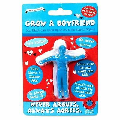 Grow Your Own Boyfriend A Partner Wedding Novelty Joke Stag Hen Gift Blue UK