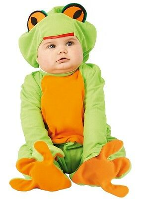 Baby Girls Boys Green Frog Animal Halloween Fancy Dress Costume Outfit 6-24 mths
