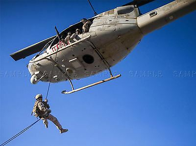 WAR AIR FORCE TRANSPORT HELICOPTER CHOPPER UH1N HUEY USS RUSHMORE PRINT BB3355A