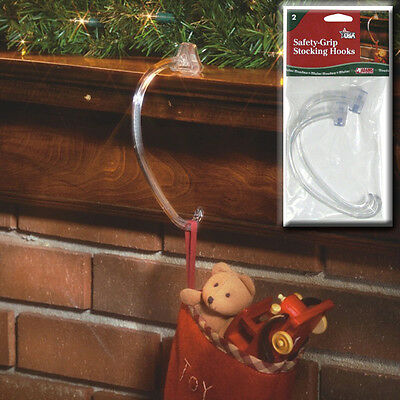 Adams Safety Grip Christmas Stocking Hangers Hooks Pack of 2