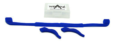Wrapz Sunglasses or Glasses Silicone Strap & Retainer Set BLUE