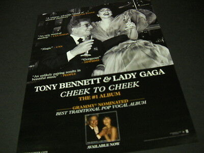 LADY GAGA and TONY BENNETT have a drink together PROMO DISPLAY AD mint condition