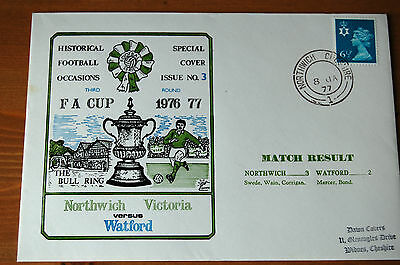 Northwich Victoria v Watford FA Cup Third Round 1977 Football Cover