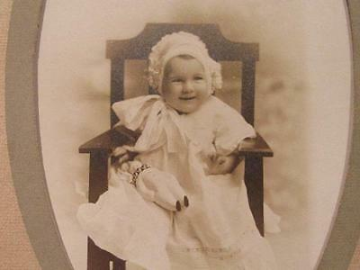 Marion Gwendolyn Rose 9 months Antique Hopp Detroit Postcard with Ghostly Image